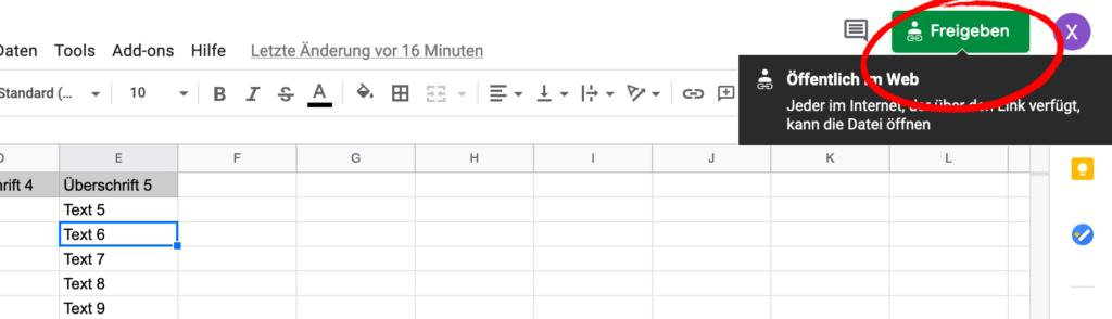 Mit dem Excel von Google verwalte ich einige Daten, die ich per JSON in mein Smart Home System hole und über die Visualisierung ausgebe. Wie du eine Google Spreadsheet Tabelle als JSON auslesen kannst, zeige ich dir in diesem Artikel.