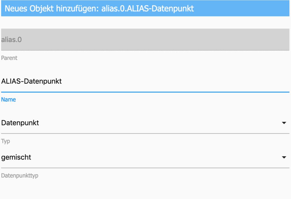 Wie du ohne Installation eines weiteren Adapters einen bestehenden Datenpunkt mit einem Alias-Datenpunkt verknüpfen kannst, erfährst du in diesem Artikel.