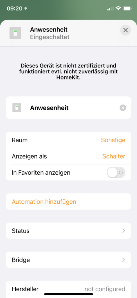 Wenn du im Apple-Kosmos unterwegs bist und dein Smart Home bereits über HomeKit steuerst, kannst du eine einfache Abwesenheits- und Anwesenheitserkennung mit ioBroker realisieren. Ich zeige dir, wie du einen Schalter im HomeKit konfigurierst, der die An- oder Abwesenheit anzeigt.