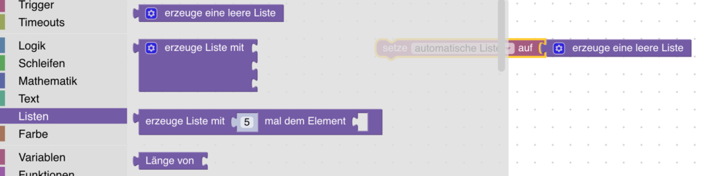 Blockly-Beispiele: Automatische Listen einfach mit Blockly erstellen