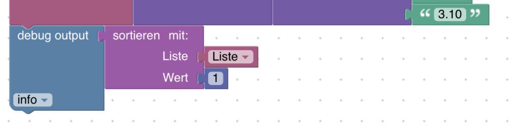 Wenn du mit Blockly eine Liste mit weiteren Listen erstellst, kannst du diese nicht mehr sortieren lassen. Hier erfährst du, wie du solche multidimensionale Listen nach allen Werten sortieren kannst.