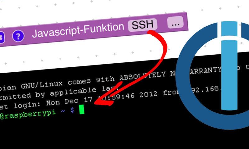 """In diesem Artikel erfährst du, wie du einfach und schnell einen SSH-Befehl mit """"simple-ssh"""" und einem Blockly-Script ausführen kannst."""