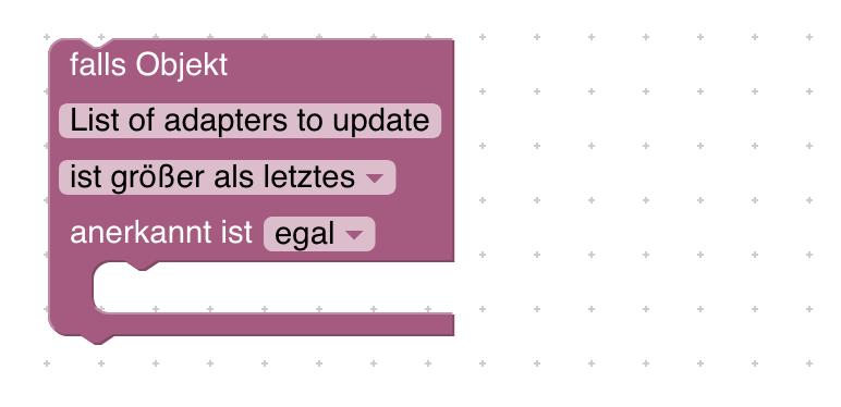 Wenn Adapter-Updates anstehen, kannst du dich mit folgendem Script über die Anzahl und die Namen der Adapter informieren lassen.