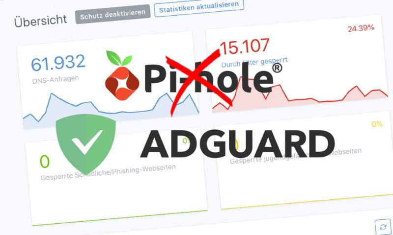Ich habe lange Zeit Pi-hole genutzt, um in unserem Netzwerk Werbung zu blockieren. Als es dann darum ging, einen Kinderschutzfilter einzurichten oder für einige Geräte einen alternativen Upstream-DNS zu konfigurieren, kam Pi-hole an seine Grenzen. Eine Alternative musste her: Ad Guard Home.