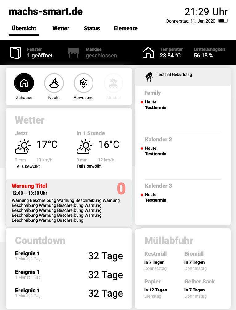 Nutze meine ioBroker-Visualisierung für dein Smart Home-Dashboard!
